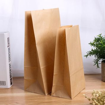 5/10pcs Recyclable Packaging Shopping Candy Brown Kraft Paper Food Bags Wedding birthday party supplies Christmas