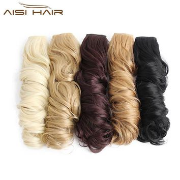 "I's a wig 24"" 16 Colors Long Wavy High Temperature Fiber Synthetic Clip in Hair Extensions for Women"