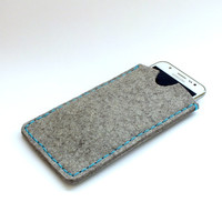 Samsung Galaxy J5 mobile phone case. Wool felt phone sleeve. Eco-friendly phone case. Cell phone holster. Handcrafted phone accessories.