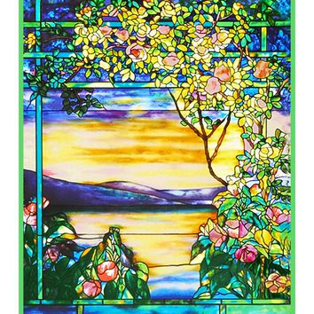 Landscape of Roses inspired by Louis Comfort Tiffany  Counted Cross Stitch or Counted Needlepoint Pattern