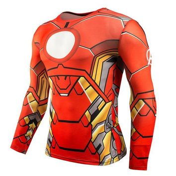 Superheroes Suit Compression Long Sleeve Shirts #ironman