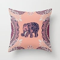 Bohemian Elephant Pillow Case 18x18 (two sides)