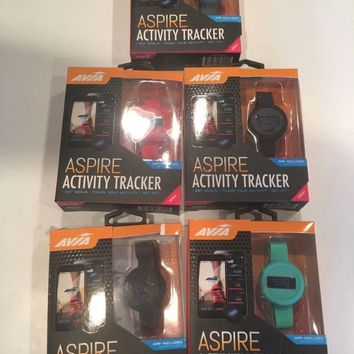 DCK4S2 Avia Aspire Activity Fitness Tracker Step Counter Distance & Calories ONLY BLACK