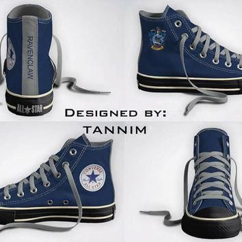 Custom Harry Potter House Ravenclaw Converse Chucks by Tannim