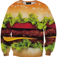 Burger Print Long Sleeve Sweatshirt