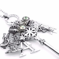 Key Charm Necklace - Key to Atlantis