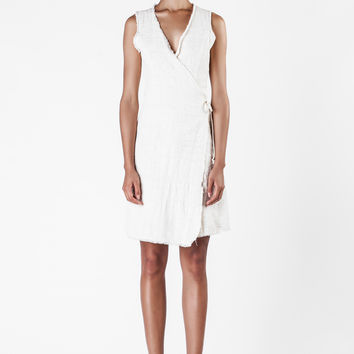 The Elder Statesman  - Natural Wrap Dress