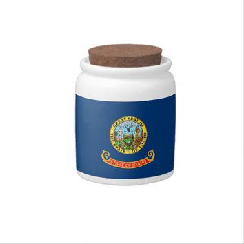 Idaho State Flag Candy Jar