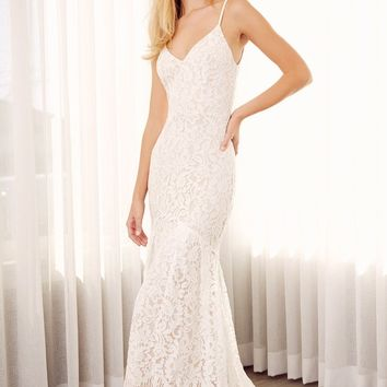 Flynn White Lace Maxi Dress