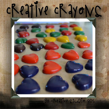 HEARTS - shaped crayons - birthday party favors - baby shower favors - valentines day