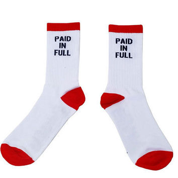 The PIF Socks in White