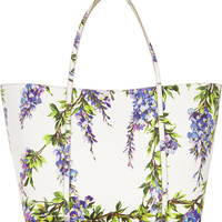 Dolce & Gabbana | Escape medium floral-print textured-leather tote | NET-A-PORTER.COM