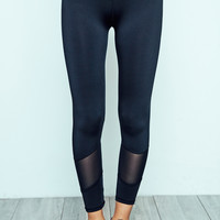 MESH PANEL HIGH RISE POWER LEGGING - REDLINE