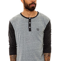 Matix The Mono Stack Henley in Tri Charcoal