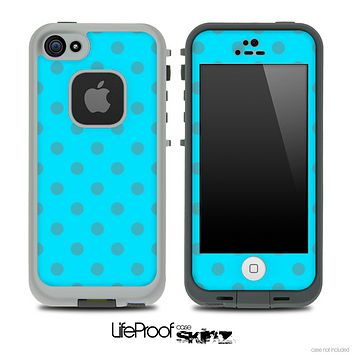 Polka Dotted Blue V3 Skin for the iPhone 5 or 4/4s LifeProof Case