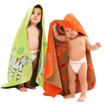 Organic Hooded Towel - Jungle Collection Classic