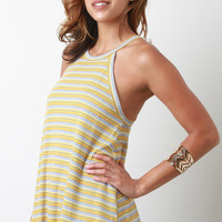 Retro Stripes Sleeveless Flare Top