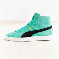 Puma Teal Suede Classic Mid-Top Sneaker - Teal