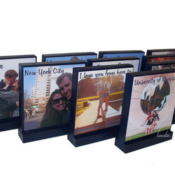 WEDDING TABLE CENTERPIECES-Set of 15 Xl Personalized Photo Blocks - Custom Table Numbers-Centerpieces-Place Cards