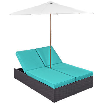 Arrival Outdoor Modern Dual Patio Chaise Lounges