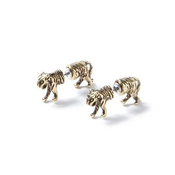 Tiger Front and Back Earrings  | Claire's