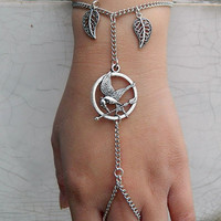 The hunger game currency, punk style chain rings and bracelets