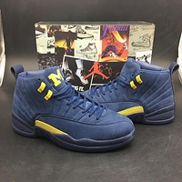 Air Jordan 12 ¡°Michigan¡± Model£ºBQ3180-407