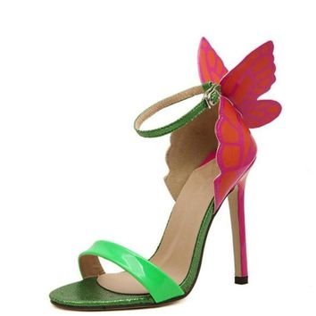 Colorful Bow-Tie Butterfly High Heel Stilettos