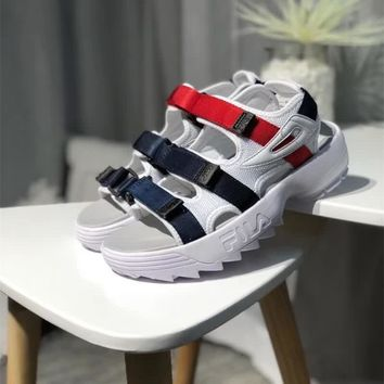 FILA Disruptor 2 Women Summer Casual Fashion Velcro Thick Bottom Sandals Sneakers