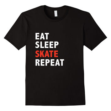 Funny Eat Sleep Skate Repeat Ice Roller Figure Speed Skating
