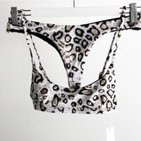 Swimsuit Summer New Arrival Sexy Beach Hot Swimwear Leopard Bra Bikini [182790717455]