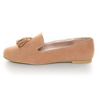 Yoki Frida Camel Tassel Smoking Slipper Flats - $28.00