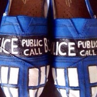 Dr. Who Tardis Painted Toms