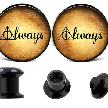 Harry Potter ear plugs ,create your own ear plugs,acrylic ear plugs,wedding plugs,ear plugs body jewelry