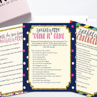 Printable bachelorette games / bachelorette party games / bachelorette game bundle / Spade bachelorette / drink if game / scavenger hunt