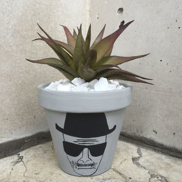 Floral Hanging Planter Breaking Bad Heisenberg Inspired Pot