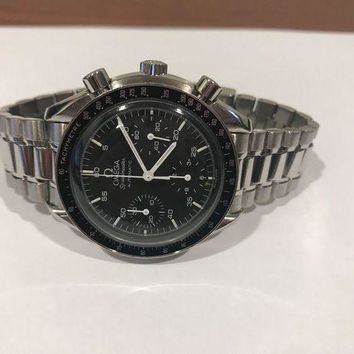 ONETOW OMEGA Speedmaster Chronograph Tachymetre Automatic Watch VINTAGE 45 jewels