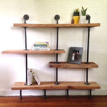 addison street reclaimed wood shelving from reclaimedpa on. Black Bedroom Furniture Sets. Home Design Ideas