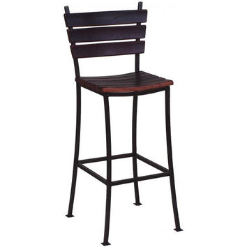 Wine Stave Dining Chair w/ Back (Made from Wine Barrels)