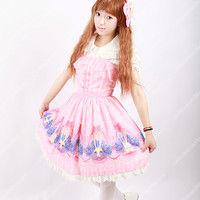 Sweet Cotten Original Print Rabbit Souffle Song Lolita Dress