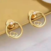 Dior Stylish Popular Ladies CD Letter Chic Stud Earrings Accessories Jewelry