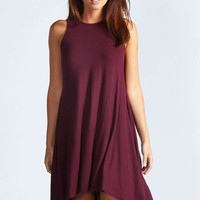Amanda Sleeveless Dip Back Swing Dress
