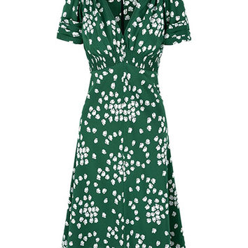 Suzannah | 30s Vintage Print Tea Dress | Suzannah Tea Dress