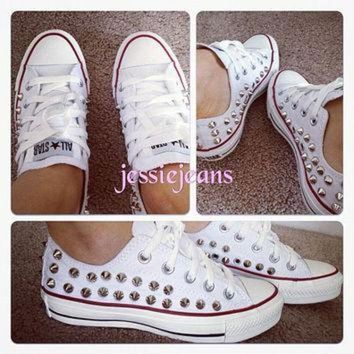 DCCKHD9 Semi spike studded Converse by Jessiejeans on Etsy