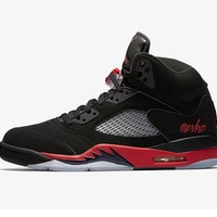 Air Jordan 5 Bred Basketball Sneaker