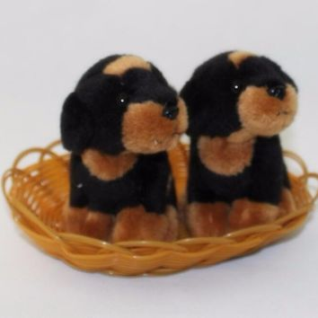 Two Rottweiler Puppies Stuffed Animal Plush Toy