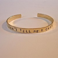"Brass Bracelet Stamped ""DON'T .. on Luulla"