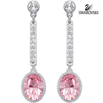 Swarovski Pink Crystal JEWELRY Pierced Earrings ADHERE Light Rose #5036777