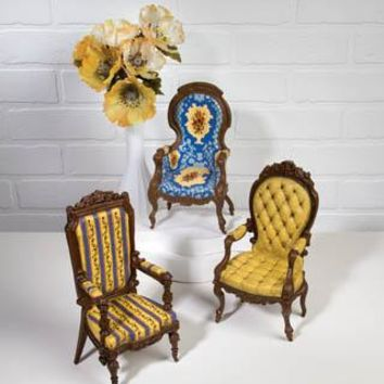 Vintage Victorian Chairs 3 Assorted