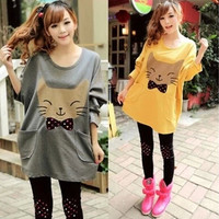 Cute kawaii cartoon cat T-shirt